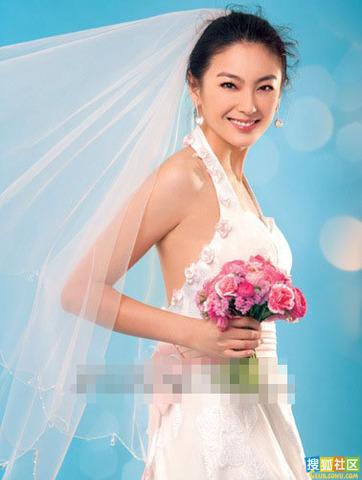 女星婚纱照大放送 谁是最美新娘-明星写真